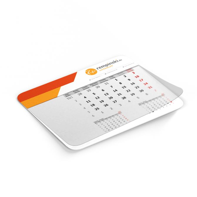 Mousepads Kalender